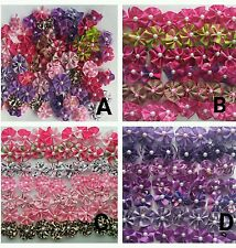 40 pcs mix Rubber band hair bows for dog cat grooming handmade 1.5