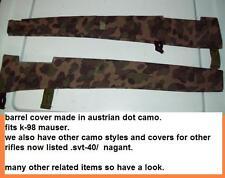 98K mauser/ Barrel cover / austrian dot camo/ Reenactor/ 8mm/ german/ ww2 sniper