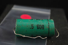 One Sangamo .5 uF 600 Vdc Audio Tone Capacitor