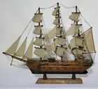 """MAYFLOWER 21"""" Abt. 1:60 Scale Crafted Wooden Model Ship FREE Mainland Postage"""