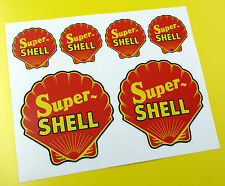 SUPER SHELL Classic Vintage Style stickers decals Rally Race Track car bike