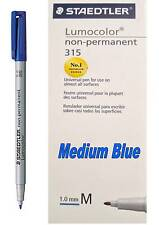 STAEDTLER LUMOCOLOR 315 NON PERMANENT MARKER M - MEDIUM BLUE