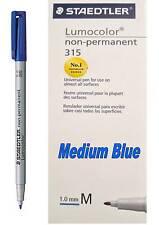 Staedtler Lumocolor 315 marcador permanente no M-azul medio