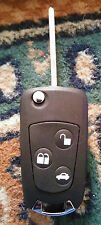 Ford 3 Button Fiesta Focus Mondeo Flip Key Conversion Remote Fob Case Blade FLA