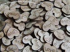 300 wooden love hearts rustic wedding, venue decor, confetti, invitations USA