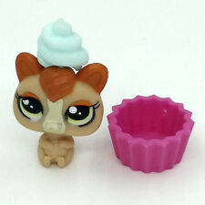 Hasbro Ice-Cream Dog & Plate LPS Littlest Pet Shop Figure Gift Toy Animals GAL
