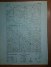1940's Army Topo Map Rosedale Wisconsin  2872 III SW
