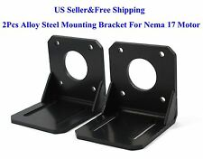 2Pcs Alloy Steel Mounting Bracket For Nema 17 Stepper Motor CNC/3D Printer US