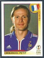PANINI KOREA/JAPAN WORLD CUP 2002- #034-FRANCE/CHELSEA-EMMANUEL PETIT(BLUE BACK)
