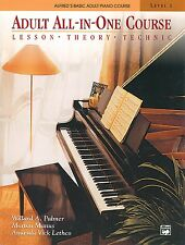 Adult All-In-One Course: Lesson-Theory-Technic: Level 1, New, Free Shipping