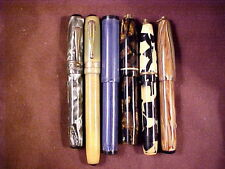 6 PC MISC VERY SMALL  FOUNTAIN PEN LOT, SOME NEED PARTS, '30'S-'40'S ERA, ALL LF