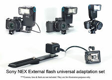Flash Speedlight Adaptor FOR Sony NEX 3 C3 5 5N 5R F3 camera HVL-F20S HVL-F7S