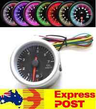 "Black Face 7 Colour 2"" Inch 52mm Electrical Oil Pressure Gauge BAR 4WD Car Turbo"
