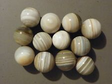 Marbles Bulls Eye Bullseye Banded Agate Natural Gemstones 12 of 1 1/4 to 1 3/8