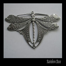 PEWTER CHARM #404 Large Dragonfly 2 bail joiner (96mm x 64mm) STUNNING