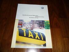 VW Taxi Prospekt 05/2002 VW Passat / Sharan