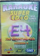 CHARTBUSTER ESSENTIALS KARAOKE SCDG E4, 450 SONGS, CAVS SUPER CD+G