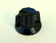 Black Skirted Pointer Knob NOS Valve Guitar Amplifier Bakelite