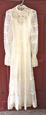 Vintage VICTOR COSTA size 2 4 6 8 ivory lace wedding gown dress lined gunne sax