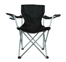 New 2 Piece Set - Sports Beach Fold Out Chair with Cup Holder & Carry Bag