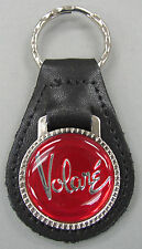 Red Plymouth VOLARE Black Leather Silver Keyring 1976 1977 1978 1979 1980