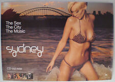 """""""SYDNEY,THE SEX,THE CITY,THE MUSIC"""" -  2003 CD RELEASE - ORIGINAL PROMO POSTER"""