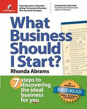 What Business Should I Start? by Rhonda Abrams (2004, Paperback)
