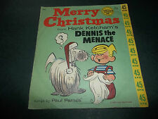 vintage 1961 MERRY CHRISTMAS from HANK KETCHAM'S DENNIS THE MENACE Parnes 45 rpm