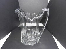 "Jefferson Krys-Tol Chippendale 1/2 Gallon Pitcher Clear Crystal 9"" T ca1907-20s"