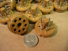 LOT of 8 pcs. NOS 6-7-8 Pin Cinch Cable Connector Vacuum Tube Socket Mount Base