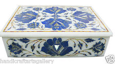 "7""x5""x2"" jewelry box store Cabinet Lapis Lazuli Inlay Collectible Gifts ArtH1917"