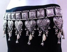 NEW KUCHI TRIBAL OXIDISED COWRIES BELT BELLY DANCE COSTUME JEWELRY GYPSY INDIA