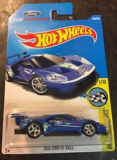 2017 Hot Wheels '16 Ford GT Race Super CUSTOM with 5 Spoke Chrome Real Riders