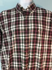 Etienne Aigner Mens Shirt Size 17 34/35 Plaid Long Sleeve Ships Free