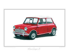 Morris Mini Cooper S - Limited Edition Classic Car Print Poster by Steve Dunn