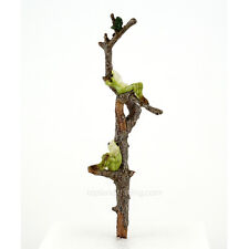 Miniature Two Frogs Relaxing on Branch Garden Planter Stake 4399  Fairy Garden