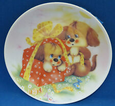 Puppy Dog Surprise Collector Plate Victoria Porcelaine de Boheme