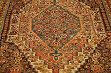 c1920s ANTIQUE SUPER DETAILED_HIGH KPSI_SQUARE PERSIAN SENNEH KILIM RUG 5.3x6