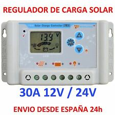 Regulador de Carga Solar 30A Display LCD 12v/24v Regulator Charger Programable