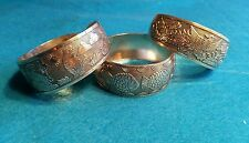 EXQUISITE SET OF 3 TIBETAN TIBET SILVER TOTEM BANGLE CUFF BRACELETS