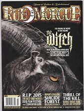RUE MORGUE 163 HORROR FILM MAGAZINE THE WITCH FOREST 2016 FILMS