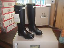 BLACK  NORRIS HUNTER WELLINGTONS WELLIES IN HALIFAX SIZE 8  LADIES TALL