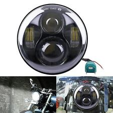 "2x For jeep Harley 5-3/4"" Black Motorcycle LED Headlights Projector Head Lamp"