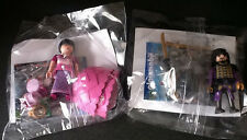 LOT 2  PLAYMOBIL   PERSONNAGE  QUICK  CHEVALIER VIOLET  &  PRINCESSE DES CHAMPS