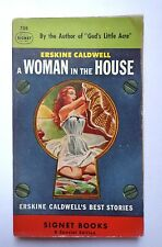 vtg pulp book novel A Woman in the House Erskine Caldwell pin up girl paperback