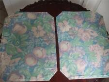 "Tapestry Fabric Placemats Fruit Flowers Pastel Mauve Green Pair 18"" x13"" New"