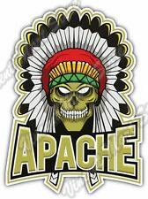 "Indian Chief Head Skull Apache Angry Native Car Bumper Vinyl Sticker Decal 4""X5"""
