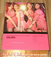 miss A Colors THE 7TH PROJECT K-POP CD + POSTCARD SET & FOLDED POSTER NEW