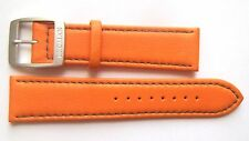 Authentic Locman 22mm ORANGE Lorica Leather Watch Band/Strap with Buckle NEW