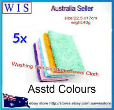 5 pcs/PK Bamboo Fiber Dish Wash Cloth Cleaning Towel for Kitchen,Assted Colours